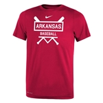 YOUTH ARKANSAS BASEBALL BATS CARD SS T-SHIRT