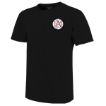 ARKANSAS 1871 RAZORBACKS BASEBALL BLACK SS T-SHIRT