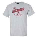 ARKANSAS BASEBALL GRAY HEATHER SS T-SHIRT