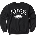 PEPPER CREW WITH ARKANSAS OVER WHITE HOG COMFORT COLORS