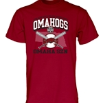 OMAHOGS CROSSED BATS CWS CARD SS T-SHIRT