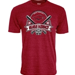 CWS CROSSED BATS ARKANSAS RAZORBACKS CARD T-SHIRT