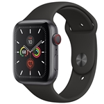 APPLE WATCH SERIES 5 CELLULAR 44MM - SPACE GRAY W/ BLACK SPORT BAND