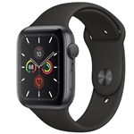 APPLE WATCH SERIES 5 GPS 44MM - SPACE GRAY W/ BLACK SPORT BAND
