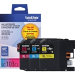 BROTHER LC103XL COLOR INK 3PK