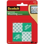 3M 1IN MOUNTING SQUARES 16CT