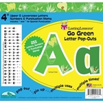 4 INCH GO GREEN LETTER POPOUTS