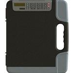 CLIPBOARD W/CALCULATOR BLK/GRY