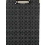 FASHION CLIPBOARD BLACK GEO