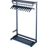 48 IN GARMENT RACK 2 SHELF BK