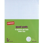 STAPLES GRAPH PADS 5 SQ/INCH
