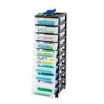 10 DRAWER STORAGE TOWER BLK