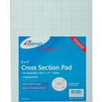 PAD QUAD EFFC 4SQ/IN 8.5X11 WE