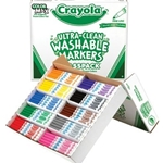 200CT WASH MARKERS CLASSPACK