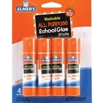 ELMERS GLUE STICKS CLR 4PK