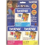 BROTHER LC51 MULTI INK 3PK