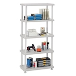 5 SHELF PLSTIC SHELVING PLAT