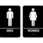6X9 MENS/WOMENS ROOM SIGNS- 2