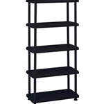 5 SHELF ROUGH N READY BLACK