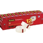 SCOTCH 600 TRANSP TAPE 12PK