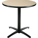30IN ROUND PEDESTAL TABLE NAT