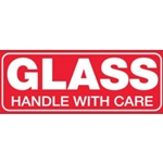 1.5X4GLASS HNDL W/CARE LBL