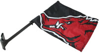 Black Car Flag Run Hog Head w/ Swirl