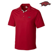 CARD RED DRYTEC FOSS HYBRID POLO WITH SILVER PIPING