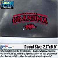 ARKANSAS GRANDMA RUN HOG DECAL