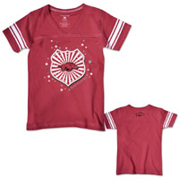 GIRLS SHIELD WITH HOG CARD TEE STRIPED SLEEVES