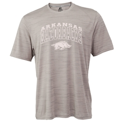 ARCHED OUTLINED ARKANSAS RAZORBACKS OVER HOG ROCK PERFORMANCE T-SHIRT