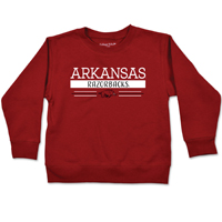 TODDLER ARKANSAS RAZORBACKS STRIPE CARD CREW