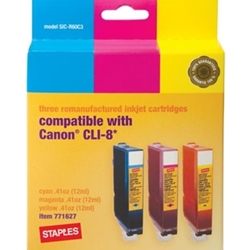 SPLS CANON CLI-8 COLOR INK 3PK